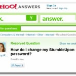 Change Stumbleupon Password