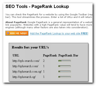 SPH-Search.com PageRank 14 Apr 2008