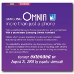 Samsung Omnia Contest – Scam?