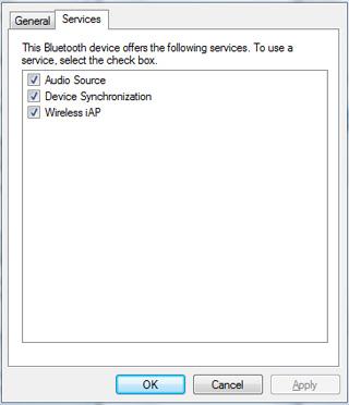 iPhone 3GS Bluetooth profiles