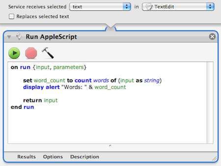 Step 7: Copy and paste AppleScript code
