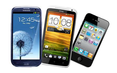 Galaxy S3 vs HTC One X vs iPhone 4S