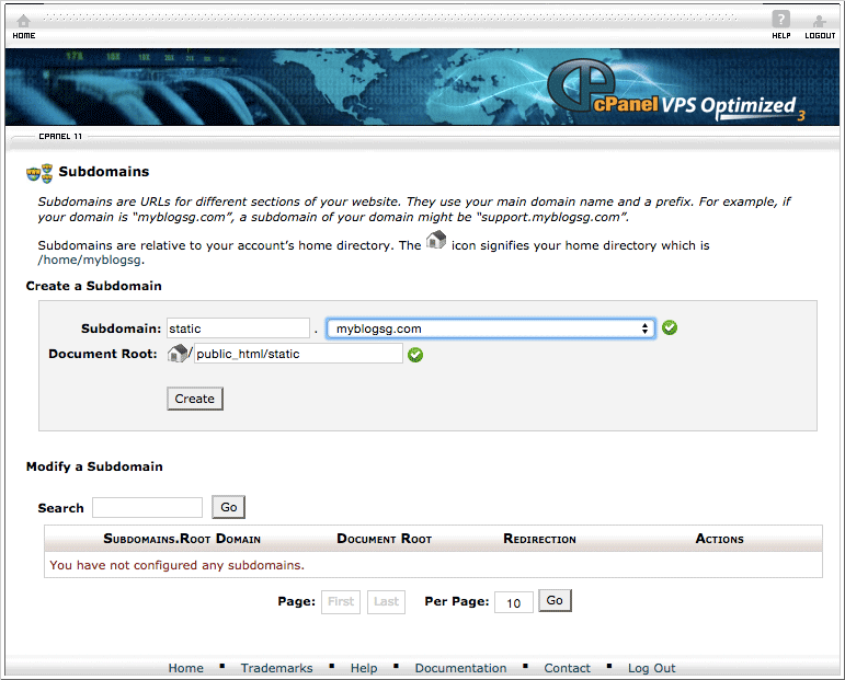 Step 1: Add subdomain using CPanel
