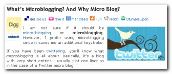 Social bookmarking widget plus
