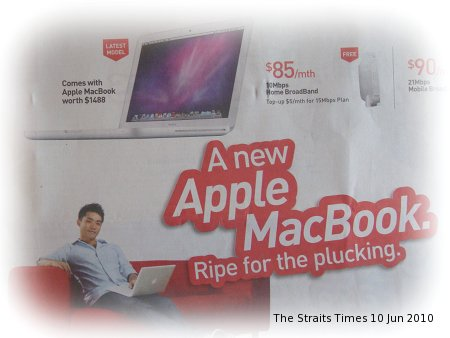 Free MacBook Singtel Broadband